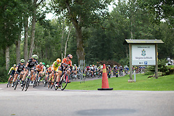 Evelyn Stevens (USA) of Boels-Dolmans Cycling Team leads the peloton in the second lap around Vårgårda during the 141 km road race of the UCI Women's World Tour's 2016 Crescent Vårgårda women's road cycling race on August 21, 2016 in Vårgårda, Sweden. (Photo by Balint Hamvas/Velofocus)