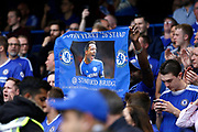 Chelsea fans show a Chelsea Defender John Terry (26) banner during the Premier League match between Chelsea and Sunderland at Stamford Bridge, London, England on 21 May 2017. Photo by Andy Walter.