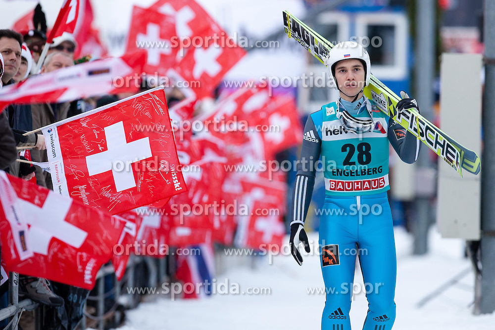 22.12.2013, Gross Titlis Schanze, Engelberg, SUI, FIS Ski Jumping, Engelberg, Herren, im Bild Alexey Romashov (RUS) // during mens FIS Ski Jumping world cup at the Gross Titlis Schanze in Engelberg, Switzerland on 2013/12/22. EXPA Pictures &copy; 2013, PhotoCredit: EXPA/ Eibner-Pressefoto/ Socher<br /> <br /> *****ATTENTION - OUT of GER*****