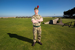 Cpl Peter McTernan. Feature on the Army's new Foxhound light mechanised infantry vehicles at Fort George army barracks, before they leave on convoy for England, before going into active service.