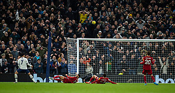 LONDON, ENGLAND - Saturday, January 11, 2020: Tottenham Hotspur's Heung-Min Son shoots high over the bar as supporters react during the FA Premier League match between Tottenham Hotspur FC and Liverpool FC at the Tottenham Hotspur Stadium. (Pic by David Rawcliffe/Propaganda)