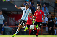 SYDNEY, NSW - FEBRUARY 28: Argentina player Florencia Jaimes (9) crosses the ball at The Cup of Nations womens soccer match between Argentina and Korea Republic on February 28, 2019 at Leichhardt Oval, NSW. (Photo by Speed Media/Icon Sportswire)