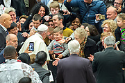January 03, 2018: Pope Francis arrives for his weekly general audience in Paul VI hall at the Vatican, Rome, Italy <br /> *** RESTRICTED TO EDITORIAL USE - NO MARKETING NO ADVERTISING CAMPAIGNS ***