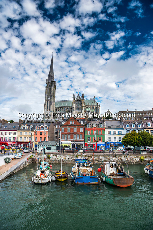 Cobh, Cork, Southern Ireland, August 2016.  Cobh is a town on an island in Cork city's harbour. It's known as the Titanic's last port of call in 1912. Titanic Experience Cobh is a themed attraction in the former White Star Line ticket office. More displays on the liner are in the Cobh Heritage Centre, which also explores how Cobh became an embarkation point during Ireland's mass emigrations.A coastal road trip from Kilkenny to Cork via Wexford and Waterford.  Photo by Frits Meyst / MeystPhoto.com