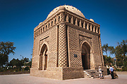 Ismail Samanid Mausoleum, built between 892 and 943 is one of the oldest monuments in the Bukhara region and has a unique mix of Zoroastrian and Islamic styles and motif.