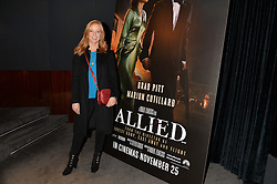 SARAH-JANE MEE at a screening of Paramount Pictures 'Allied' hosted by Rosie Nixon of Hello! Magazine at The Bulgari Hotel, 171 Knightsbridge, London on 23rd November 2016.