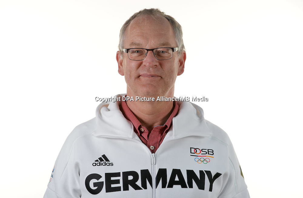 Heino Knuf poses at a photocall during the preparations for the Olympic Games in Rio at the Emmich Cambrai Barracks in Hanover, Germany. July 07, 2016. Photo credit: Frank May/ picture alliance. | usage worldwide