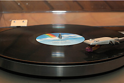24 December 2007: An LP plays on a turntable phonograph