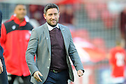 Bristol City manager Lee Johnson before the Sky Bet Championship match between Bristol City and Derby County at Ashton Gate, Bristol, England on 19 April 2016. Photo by Graham Hunt.