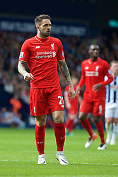 WEST BROMWICH, ENGLAND - Sunday, May 15, 2016: Liverpool's Danny Ings in action against West Bromwich Albion during the final Premier League match of the season at the Hawthorns. (Pic by David Rawcliffe/Propaganda)