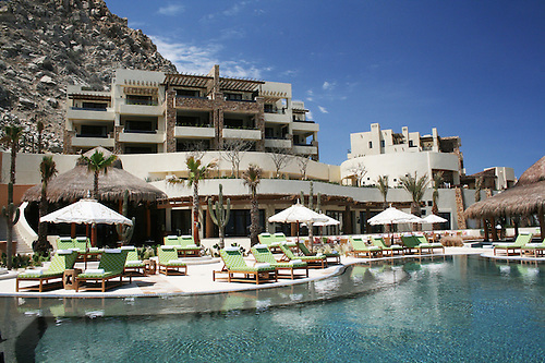 Luxury Resort Hotel With Pool And Lounge Chairs, Taken At Capella Pedregal  Hotel, Cabo.