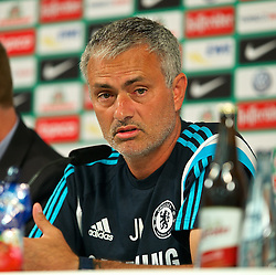 03.08.2014, Weserstadion, Bremen, GER, Testspiel, SV Werder Bremen vs FC Chelsea, im Bild Jose Mourinho (Erster Teammanager Chelsea FC) bei der Pressekonferenz // during a friedly match between SV Werder Bremen and Chelsea FC at the Weserstadion in Bremen, Germany on 2014/08/03. EXPA Pictures © 2014, PhotoCredit: EXPA/ Andreas Gumz<br /> <br /> *****ATTENTION - OUT of GER*****