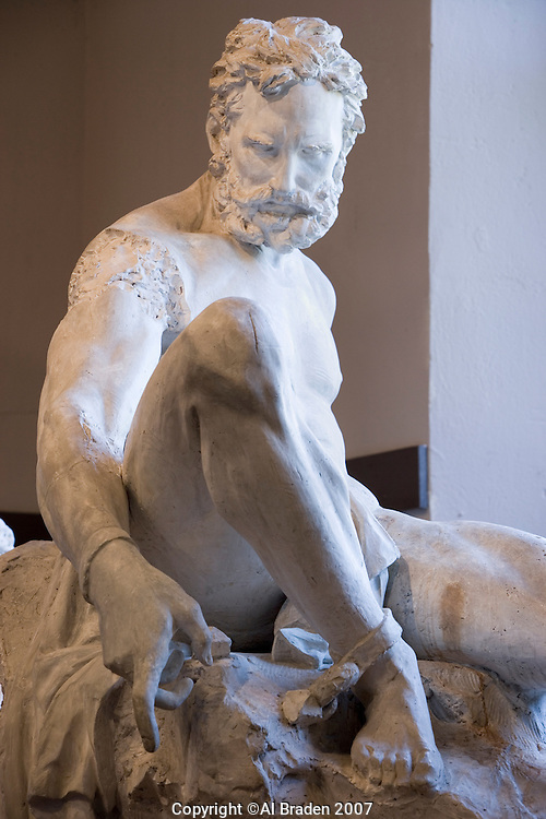 Prometheus Bound Sculpture at Elizabet Ney Museum, Austin, Texas.