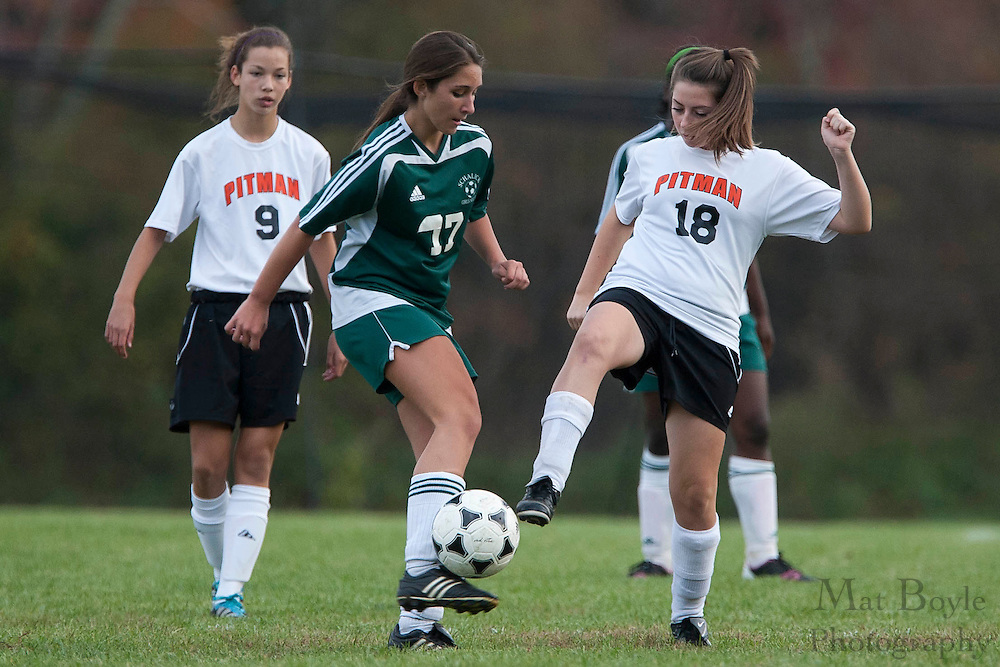 Pitman High School Girl's JV Soccer hosts Schalick High School at Alcyon Park in  Pitman, NJ on Wednesday, October 26, 2011.