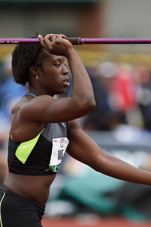 Olympic Trials Eugene 2012: Heptathlon, Bettie Wade, javelin
