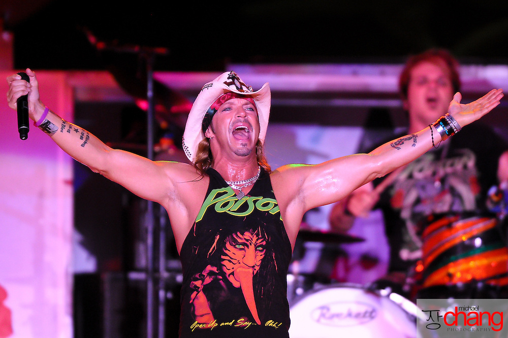 Poison performs live at The Wharf in Orange Beach, Alabama.