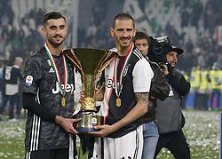 May 19, 2019 - Turin, ITA, Italy - Mattia Perin and Leonardo Bonucci during Serie A match between Juventus v Atalanta, in Turin, on May 19, 2019  (Credit Image: © Loris Roselli/NurPhoto via ZUMA Press)