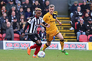 Grimsby Town midfielder Siriki Dembele (27) attacking  during the EFL Sky Bet League 2 match between Grimsby Town FC and Port Vale at Blundell Park, Grimsby, United Kingdom on 10 March 2018. Picture by Mick Atkins.