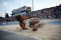 07 JUN 2012:  Whitney Gipson of Texas Christian University competes in the women's long jump finals during the Division I Men's and Women's Outdoor Track and Field Championship held at Drake Stadium on Drake University in Des Moines, IA. Joshua Duplechian/NCAA Photos