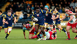 Biyi Alo of Worcester Warriors runs with the ball - Mandatory by-line: Robbie Stephenson/JMP - 28/01/2017 - RUGBY - Sixways Stadium - Worcester, England - Worcester Warriors v Harlequins - Anglo Welsh Cup