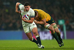 Ben Youngs of England is tackled - Mandatory by-line: Robbie Stephenson/JMP - 18/11/2017 - RUGBY - Twickenham Stadium - London, England - England v Australia - Old Mutual Wealth Series