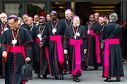 Vatican City oct 9th, 2015, extraordinary synod on family. in the picture some bishops