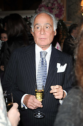 John Stefanidis at a party to celebrate Penguin's reissue of Nancy Mitford's 'Wigs on The Green' hosted by Tatler at Claridge's, Brook Street, London on 10th March 2010.