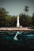 Captain Cook's monument on southwestern part of island of Hawaii.  Copyright 2009 Reid McNally.