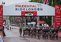 A view of the peloton as they cycle down The Mall in the Prudential RideLondon Classique 29/07/2017<br /> <br /> Photo: Jon Buckle/Silverhub for Prudential RideLondon<br /> <br /> Prudential RideLondon is the world&rsquo;s greatest festival of cycling, involving 100,000+ cyclists &ndash; from Olympic champions to a free family fun ride - riding in events over closed roads in London and Surrey over the weekend of 28th to 30th July 2017. <br /> <br /> See www.PrudentialRideLondon.co.uk for more.<br /> <br /> For further information: media@londonmarathonevents.co.uk