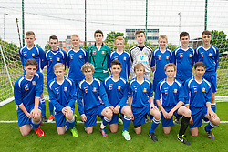 NEWPORT, WALES - Tuesday, May 28, 2013: South Welsh Premier League Academy Boys during the Welsh Football Trust Cymru Cup at Dragon Park. Back row L-R: Jordan Harford, Jordan Oike, xxxx, goalkeeper Iwan Roberts, Jake Young, goalkeeper Scott Coughlin, Harrison Courtney, Garin Gardner, xxxx. Front row L-R: Luke Roberts, xxxx, Morgan Thomas, Iwan McNab, Max Brinley, xxxx, Jayden Ali. (Pic by David Rawcliffe/Propaganda)
