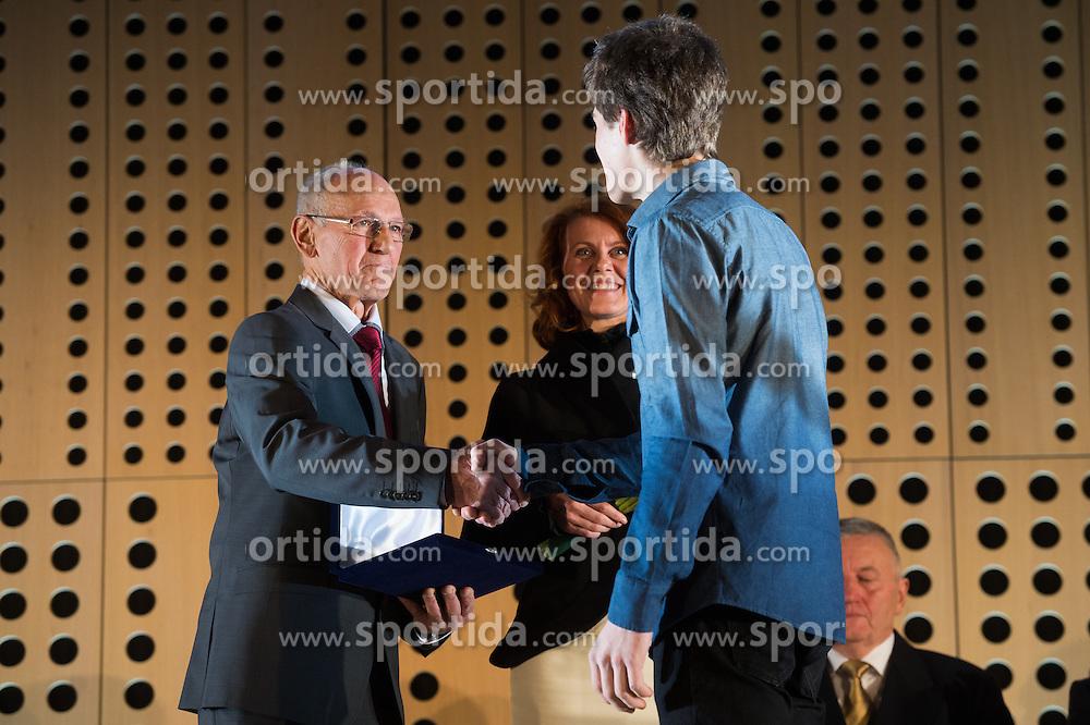Domen Skofic at 52th Annual Awards of Stanko Bloudek for sports achievements in Slovenia in year 2016 on February 14, 2017 in Brdo Congress Center, Brdo, Ljubljana, Slovenia.  Photo by Martin Metelko / Sportida