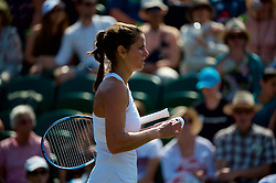 LONDON, ENGLAND - Friday, July 6, 2018: Julia Goerges (GER) during the Ladies' Singles 3rd Round match on day five of the Wimbledon Lawn Tennis Championships at the All England Lawn Tennis and Croquet Club. (Pic by Kirsten Holst/Propaganda)