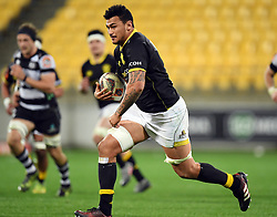 Wellington's Isaia Walker-Leaware against Hawkes Bay in the Mitre 10 Cup rugby match at Westpac Stadium, Wellington, New Zealand, Wednesday, September 06, 2017. Credit:SNPA / Ross Setford  **NO ARCHIVING**