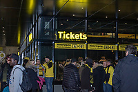 Football - 2018 / 2019 UEFA Champions League - Round of Sixteen, Second Leg: Borussia Dortmund (0) vs. Tottenham Hotspur (3)<br /> <br /> Fans begin to gather with the Dortmund Fan Welt in the background at Signal Iduna Park (Westfalenstadion).<br /> <br /> COLORSPORT/DANIEL BEARHAM