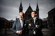 DEN HAAG - Thierry Baudet en Theo Hiddema van Forum voor Democratie COPYRIGHT ROBIN UTRECHT
