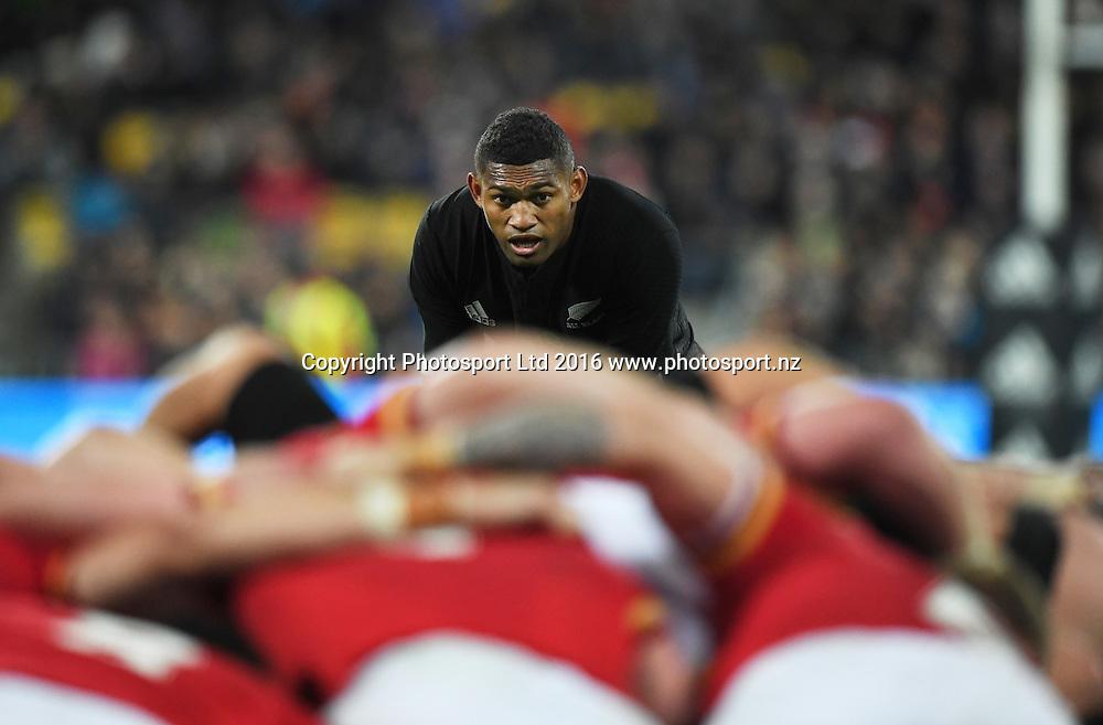 Waisake Naholo. New Zealand All Blacks v Wales. Rugby Union. 2nd test of the 3 test match Steinlager series. Westpac Stadium, Wellington, New Zealand. Saturday 18 June 2016. © Copyright Photo: Andrew Cornaga / www.Photosport.nz