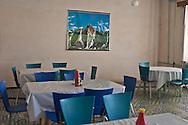 Mongolia. Ulaanbaatar. restaurant in Khurjit city in winter  Karakorum -   /  restaurant a Khurjit en hiver  Karakorum - Mongolie