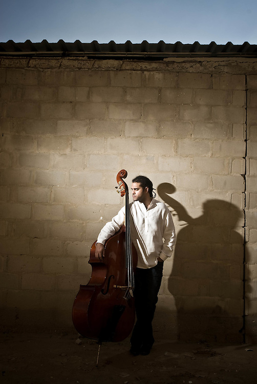 Portrait of Nabil Amarshi, musician.  January 25, 2009.