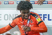 CHAMPIONS Luton Town midfielder Pelly Ruddock (17) celebrates after winning the league title after the EFL Sky Bet League 1 match between Luton Town and Oxford United at Kenilworth Road, Luton, England on 4 May 2019.