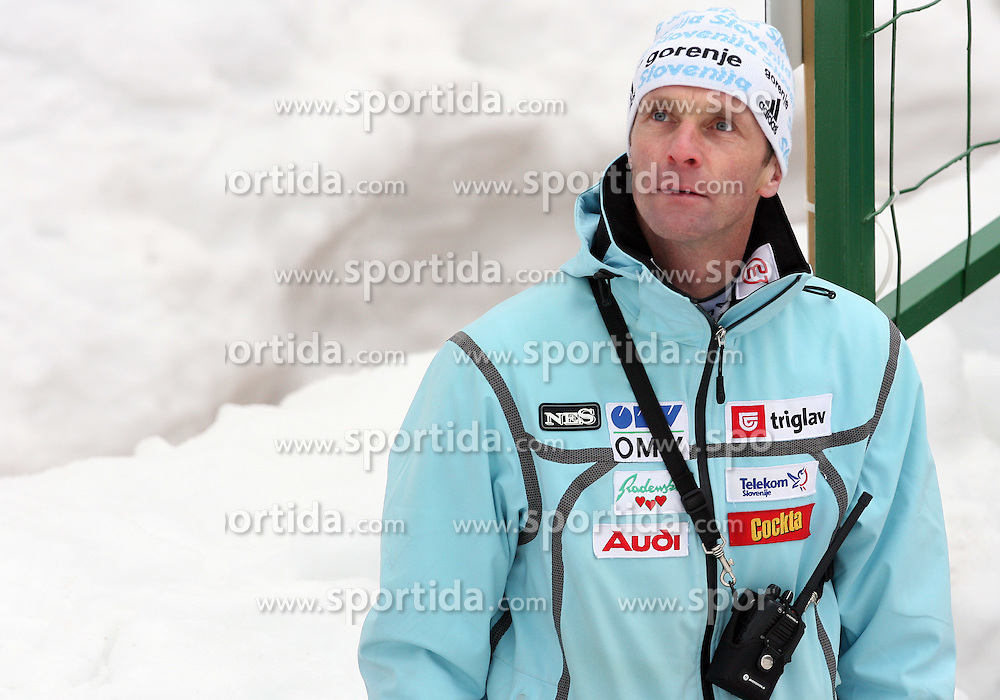 Slovenian coach Matjaz Zupan at Flying Hill Individual in 2nd day of 32nd World Cup Competition of FIS World Cup Ski Jumping Final in Planica, Slovenia, on March 20, 2009. (Photo by Vid Ponikvar / Sportida)
