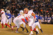 Lafayette High's Demarkous Dennis (5) runs vs. Senatobia High in Senatobia, Miss. on Friday, October 21, 2011. Lafayette High won.