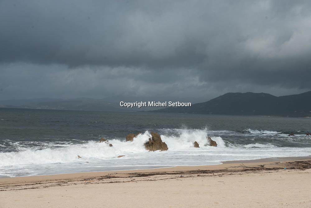 Corsica south ; Propriano. Capo Lauroso beach  /   la plage de capo lauroso ,
