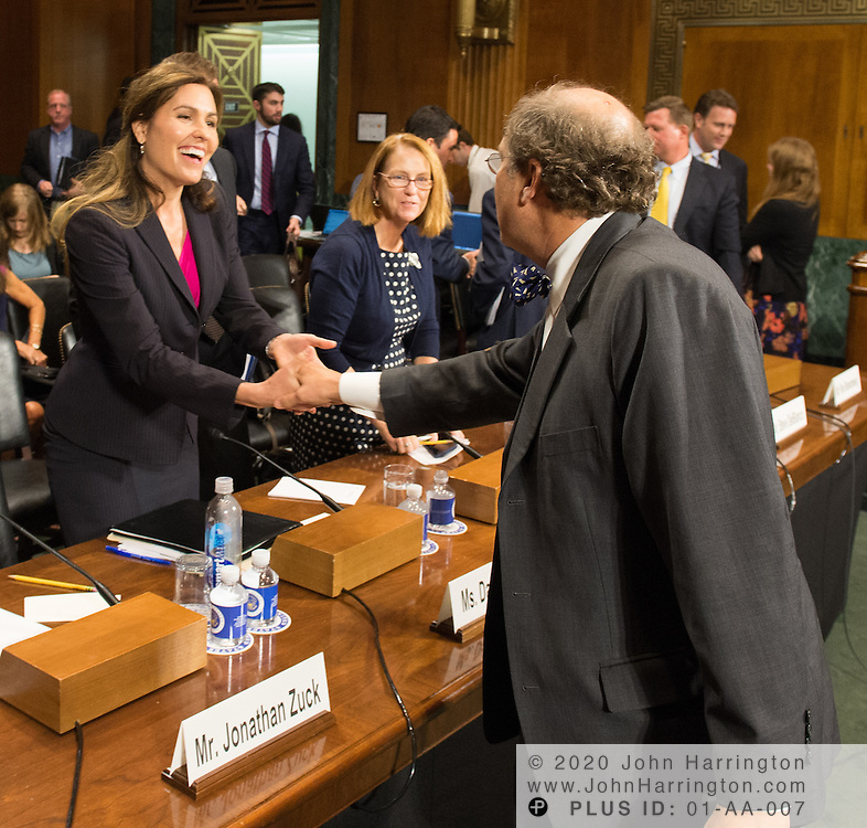 "Mr. Paul Rosenzweig greets Dawn Grove Wednesday September 14, 2016, before the Subcommittee on Oversight, Agency Action, Federal Rights and Federal Courts, testimony was also heard from The Honorable Lawrence E. Strickling, Assistant Secretary for Communications and Information and Administrator<br /> National Telecommunications and Information Administration (NTIA), United States Department of Commerce;  Mr. Göran Marby, CEO and President, Internet Corporation for Assigned Names and Numbers (ICANN); Mr. Berin Szoka, President, TechFreedom; Mr. Jonathan Zuck, President, ACT The App Association;  Ms. Dawn Grove, Corporate Counsel<br /> Karsten Manufacturing; Ms. J. Beckwith (""Becky"") Burr, Deputy General Counsel and Chief Privacy Officer, Neustar;  Mr. John Horton, President and CEO, LegitScript;  Mr. Steve DelBianco, Executive Director, NetChoice; Mr. Paul Rosenzweig, Former Deputy Assistant Secretary for Policy, U.S. Department of Homeland Security."