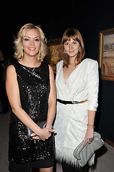 Left to right, KSENIA GORBACHEV and ANASTASIA VIRGANSKAYA grandaughters of Mikhail Gorbachev  at a cocktail party and auction to launch the forthcoming celebrations for Mikhail Gorbachev's 80th birthday held at Christie's, 8 King Street, London on 3rd February 2011.