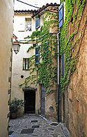 view of the typical south east of france old stone village of ramatuelle near saint tropez on the french riviera