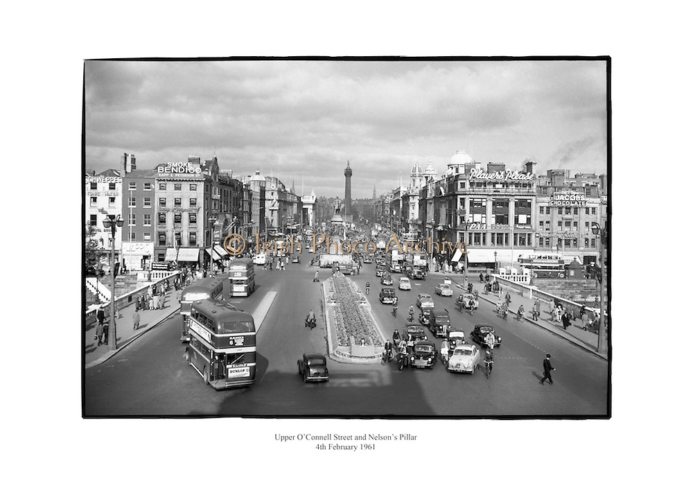 O' Connell Bridge and Street, Dublin.<br /> <br /> 4th February 1961<br /> 04/02/1961