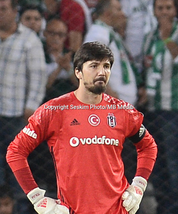 Turkey superlig match between Atiker Konyaspor and Besiktas at Torku Arena in Konya , Turkey on August 26, 2016.<br /> Final Score : Konyaspor 2 - Besiktas 2 <br /> Pictured:  Goalkeeper Tolga Zengin of Besiktas.
