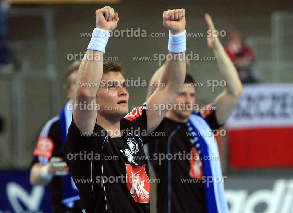 Michael Kraus (18) of Germany celebrates after 21st Men's World Handball Championship preliminary Group C match between FYR Macedonia and Germany, on January 21, 2009, in Arena Varazdin, Varazdin, Croatia. (Photo by Vid Ponikvar / Sportida)