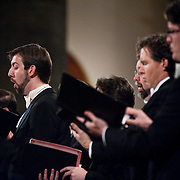 October 12, 2011 - New York, NY : The Musica Sacra Chorus including bass Matt Boehler, left, perform Sergei Rachmaninoff''s 'Vespers All-Night Vigil, Op. 37' at The Church of St. Paul the Apostle in Manhattan on Wednesday evening, CREDIT: Karsten Moran for The New York Times