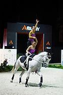 Blanka Nemeth, Kornelia Acs, (HUN), Zakarias, Natalia Sandor - Pas de Deux Vaulting - Alltech FEI World Equestrian Games&trade; 2014 - Normandy, France.<br /> &copy; Hippo Foto Team - Jon Stroud<br /> 04/09/2014